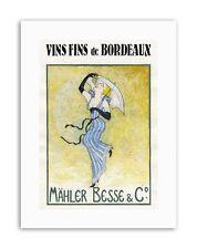 Vin Bordeaux Mahler Besse vins Loulou a Poster Toile Art Prints