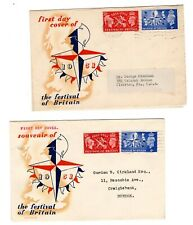 More details for festival of britain - 3 variations of first day covers