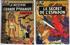 LOT 2 BLAKE ET MORTIMER ¤ MYSTERE GRANDE PYRAMIDE/SECRET L'ESPADON ¤ 1959/1964