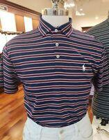 Mens Polo Ralph Lauren Short Sleeve Shirt Custom Slim Fit Striped Size Small