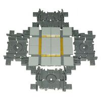 LEGO Train Track Crossover, Straight Cross Section Crossroad Rail Custom Gift