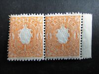 Germany 1863 Stamps MNH Pair Arms Embossed SAXONY German STATES Deutschland