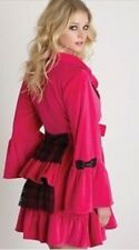 Betsey Johnson Pink Lolita Velour Lace Bustle Back Robe As Seen On Housewives S
