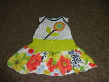 BOUTIQUE ZAZA COUTURE 18M 18 MONTHS POLKA DOT FLORAL DRESS OUTFIT