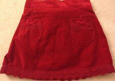 NEW The Childrens Place Toddler Girls Red Velvet Skirt w/lace Christmas 24 month