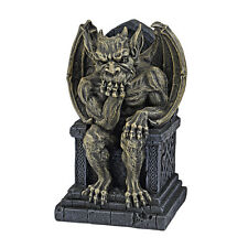 "7"" King's Pondering Perch Celtic Throne Gothic Gargoyle Home Garden Sculpture"