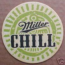 MILLER CHILL BEER w/ Lime & Salt Beer COASTER WISCONSIN