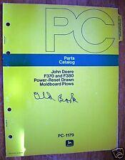 Jd F370 & F380 Drawn Moldboard Plows - Parts Catalog