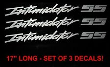CHEVY TRUCK INTIMIDATOR SS DECALS - SET OF 3 - ANY COLOR!! earnhardt, silverado