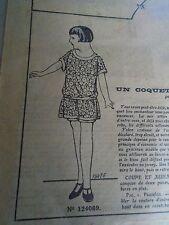 """PATRON ORIGINAL POUR LA POUPEE LISETTE  """"  COSTUME DE BAIN   1925"""