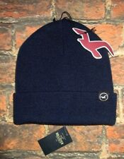 MENS HOLLISTER NAVY BLUE SOLID BEANIE HAT ONE SIZE