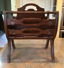 Vintage Large Wooden Magazine, Book Rack - Very Nice!!