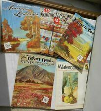 Lot of 5 Vintage Walter T Foster Art BooksDrawing
