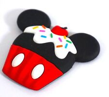 Disney Dlish D Lish Cupcake Magnet Mickey Mouse Body Red Brand New