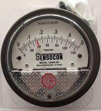 Sensocon Pressure Gauge 0-120PA/0-0.5 In w.c. alternative to Dwyer Magnehelic