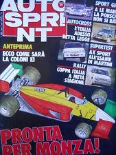 Autosprint n°25 1987 Rally - Anteprima nuova Ferrari per MONZA [P5]