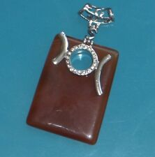 """Huge!! Stripped Onyx 925 Sterling Silver Plated Pendant w/cz over 3"""" amazing!!!!"""