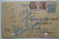 Railway post Office Oschersleben Nienhagen, Stationery 1921 (27143)