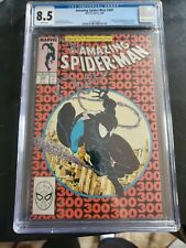 Amazing Spideman 300 CGC 8.5 1st Full  Appearance Of Venom White pages