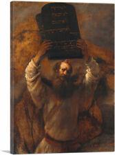 Moses with the Ten Commandments 1659 Canvas Art Print by Rembrandt van Rijn
