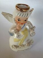 Charming Lefton Napco Girl - JANUARY Birthday Angel A1351