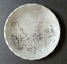 Wendell August Forge Plate / Dish Soaring Eagle on way to Eagles Nest 5.75""