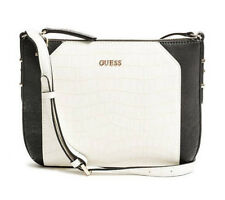 NEW GUESS BLACK BLACK & WHITE GIA COLOR BLOCKED CROSS BODY BAG HANDBAG PURSE