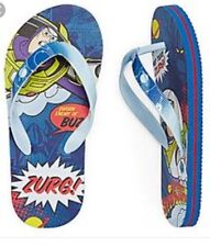 Disney BUZZ LIGHTYEAR Toy Story Toddler Boys Blue Flip Flops Sizes 9/10 Sandals