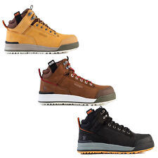 Scruffs Switchback Safety Work Boots Brown Tan Black Men Leather Hiker Steel Toe