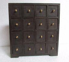 Vintage Antique Style Handmade Wooden Spice Storage / jewelry Chest 16 Drawer