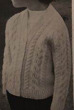 "FL18 - Vintage Knitting Pattern - Child's Aran Cardigan - Sizes 22-26"" chest"