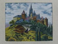 Antique Julius Marak Mini Print Landscape
