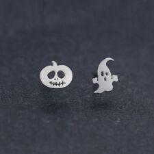 Pumpkin Charms Halloween Ghost Ear Silver Plated Stud Dangle Hoop Drop Earrings
