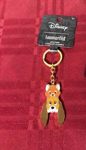 Loungefly Disney Fox And The Hound Keychain New