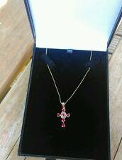 "Diamond 18 - 19.99"" Ruby Fine Necklaces & Pendants"