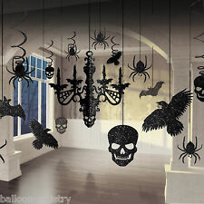 17 Piece Halloween Horror Gothic Glitter Chandelier Party Decoration Kit Set
