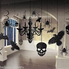 17 Piece Halloween Horror Gothic Glitter Chandelier Party Decoration Kit Set