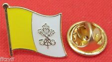 Vatican City Flag Lapel Pin Badge Brooch Papal Catholic