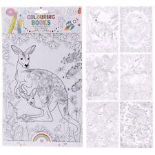 Mindfulness Colouring 6 A4 Sheets - Zoo and Animal - Kangaroo, Flamingo, Bird