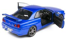 1999 NISSAN SKYLINE GT-R (R34) BAYSIDE BLUE 1:18 SCALE BY SOLIDO S1850017