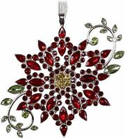 2019 Hallmark SPARKLING POINSETTIA Gemstone and Metal ORNAMENT
