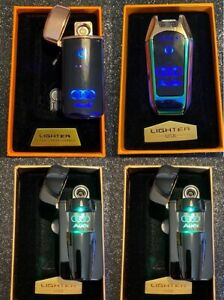 AUDI USB RECHARGEABLE LED WINDPROOF LIGHTER INCLUDES BOX AND USB WIRE BNIB
