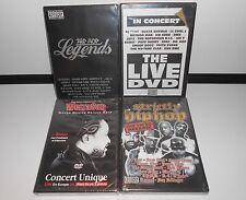 Lot de 4 DVD HIP-HOP Neuf sous blister 50 cents/Snoop Dogg/Warren G/Jay-Z/Ice T
