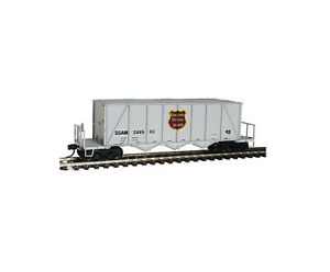 WALTHERS 932-7063 40' ORTNER AGGREGATE CAR WISCONSIN CENTRAL WC SSAM 208500