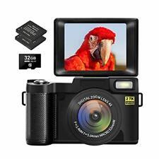 New ListingDigital Camera Vlogging for YouTube with Flip Screen Cameras Black