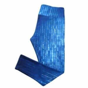 Blue Digital Design Leggings Small