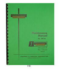 Kearney Amp Trecker Maintenance Manual Models S 12 Amp S 15 Milling Machines 118