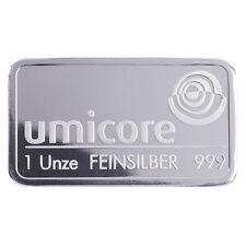 Silberbarren 1 Unze Umicore 999 Feinsilber 1Oz silverbar 1 Oz 1Unze