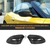 Z4 Side Rearview Mirror Covers Cap Fit for BMW E89 Z4 Roadster 09-15Carbon Fiber