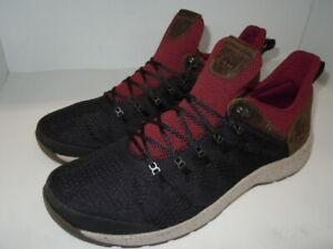 Timberland FlyRoam Trail Low Hiking Shoes A1REK Men's 12 Black and Burgundy